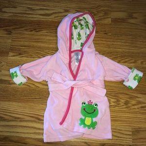 Pink Froggie Baby Girl Bathrobe